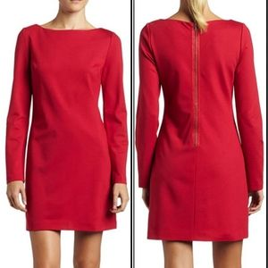 Trina Turk red long sleeve dress